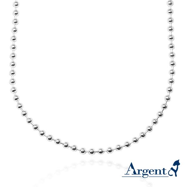 珠珠鍊4mm造型純銀項鍊銀飾|銀項鍊推薦