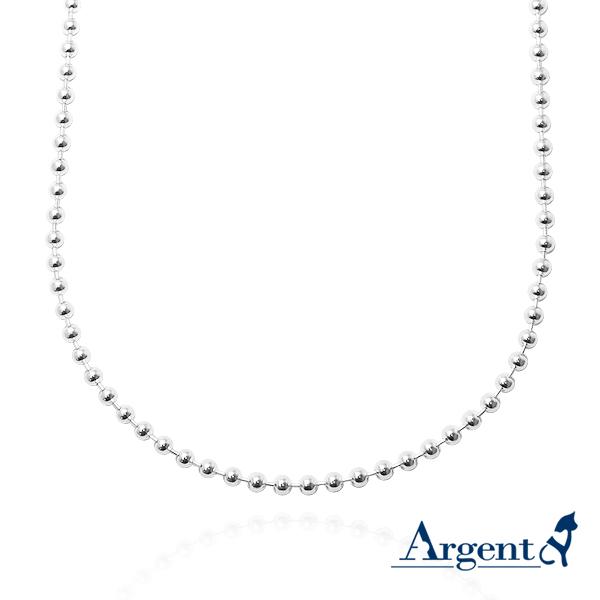 珠珠鍊2.5mm造型純銀項鍊銀飾|銀項鍊推薦