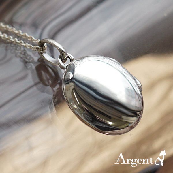 橢圓鏡面(小.平面)純銀項鍊
