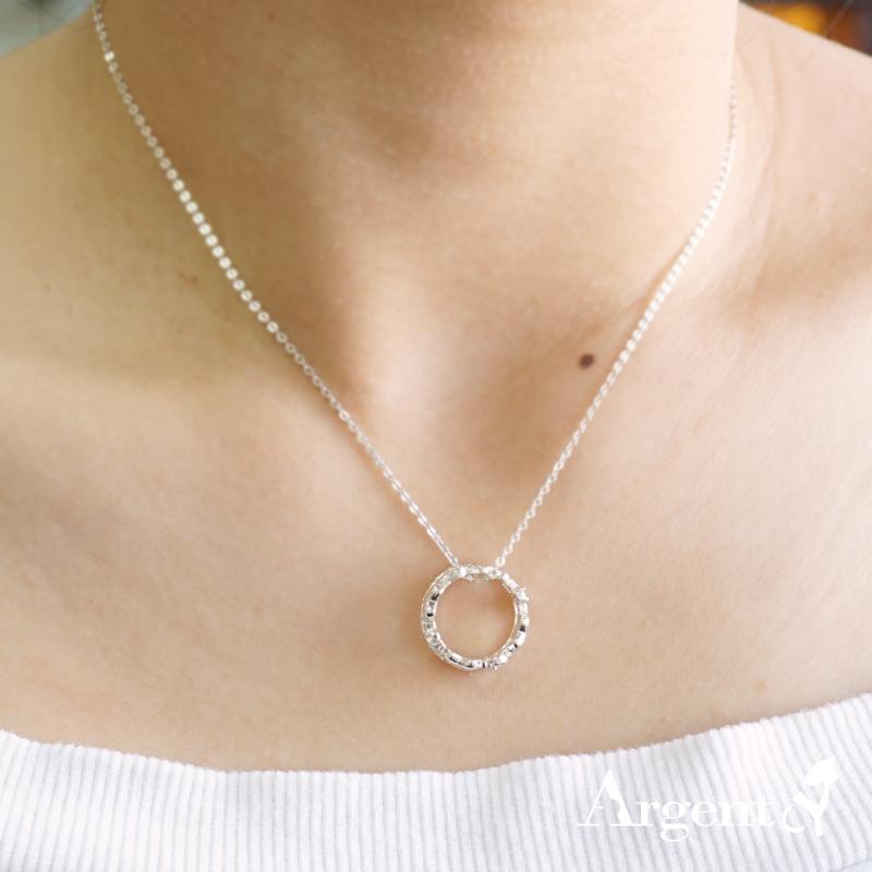 皇冠愛心-造型鑲鑽純銀項鍊銀飾|銀項鍊推薦
