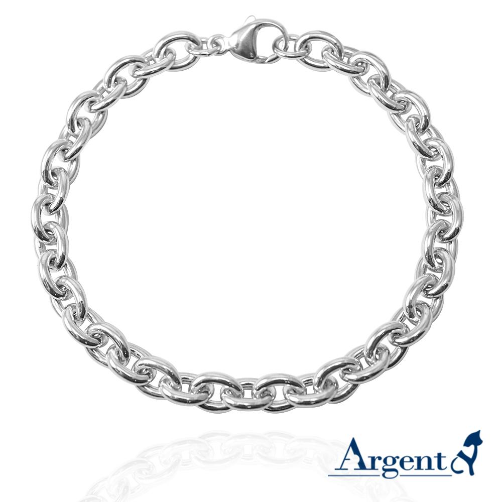 6.5mm「橢圓鍊」純銀手鍊|925銀飾