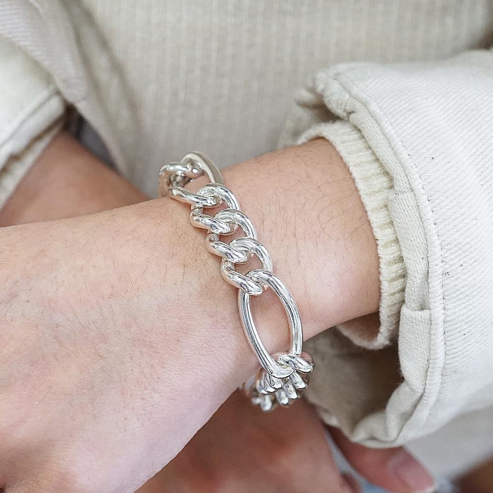 節節鍊(13mm)造型系列純銀手鍊|925銀飾