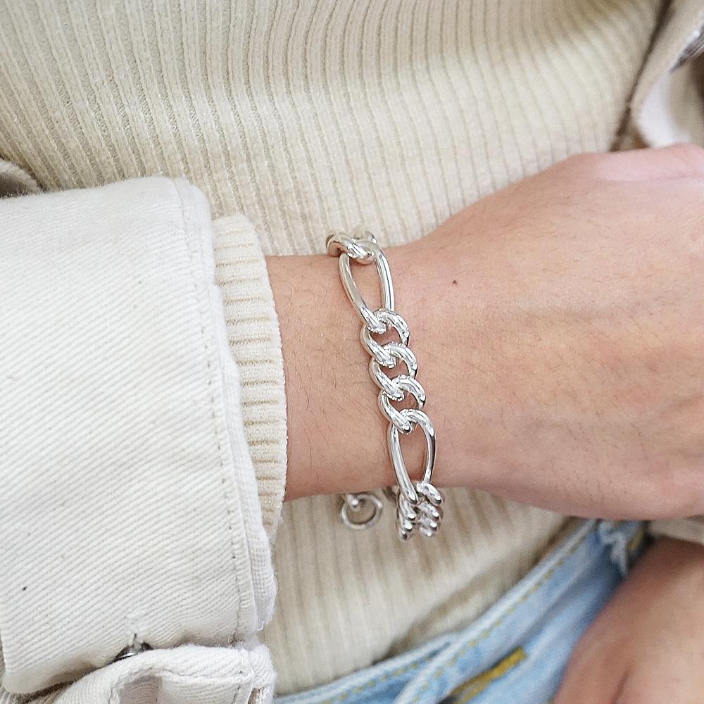 節節鍊(11mm)造型系列純銀手鍊|925銀飾