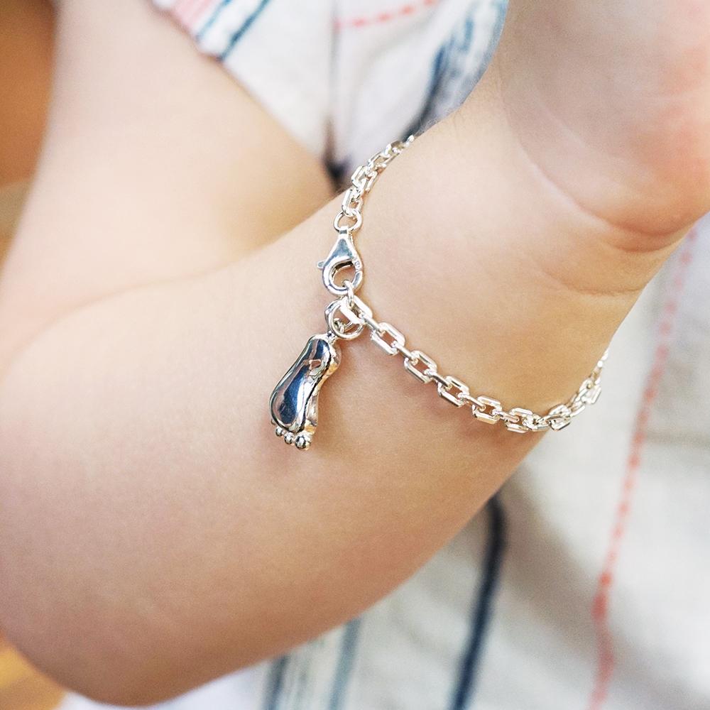 BABY腳ㄚ純銀手鍊(可加購刻字)