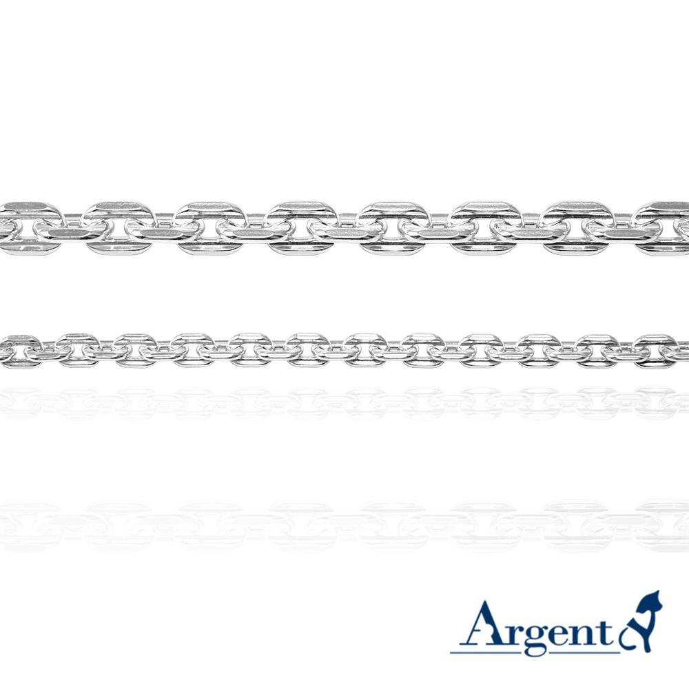 「4mm方格鍊+6.5mm方格鍊」純銀手鍊|925銀飾