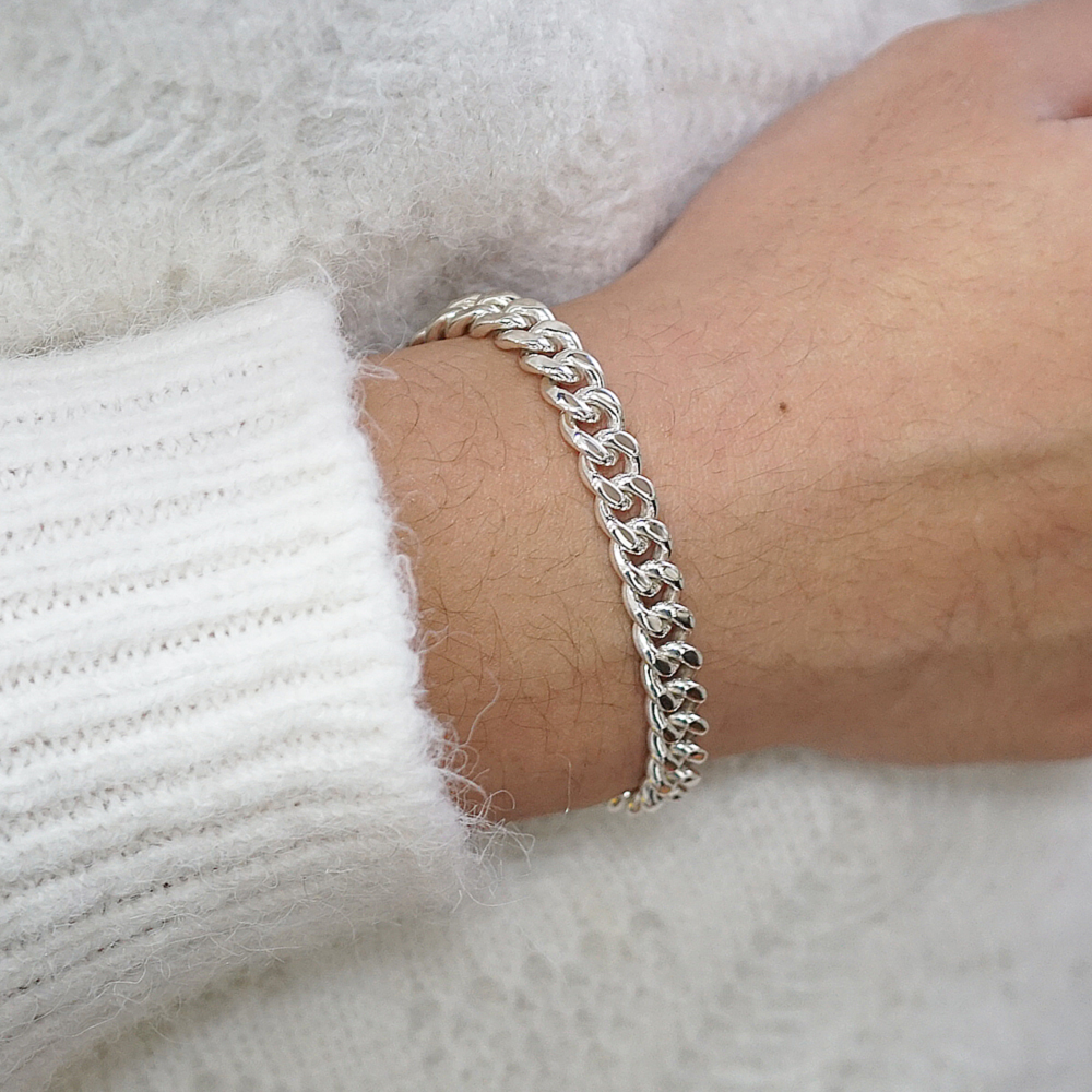 「扁鍊」經典系列純銀手鍊|925銀飾