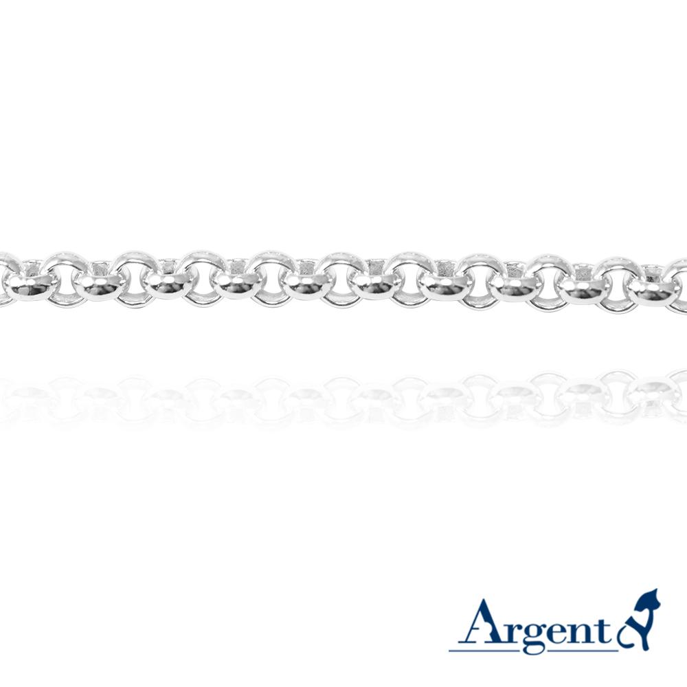 「4mm小圓鍊」純銀手鍊|925銀飾