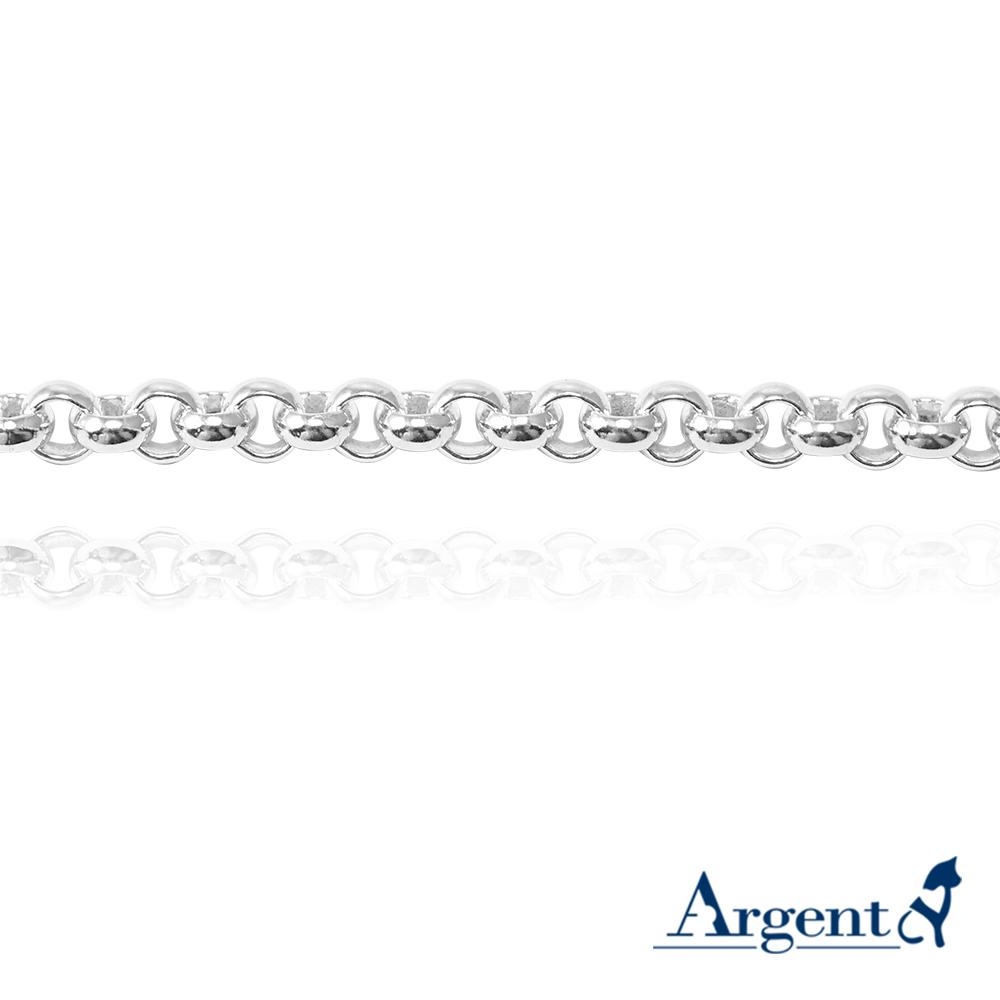 「5.5mm小圓鍊」純銀手鍊|925銀飾