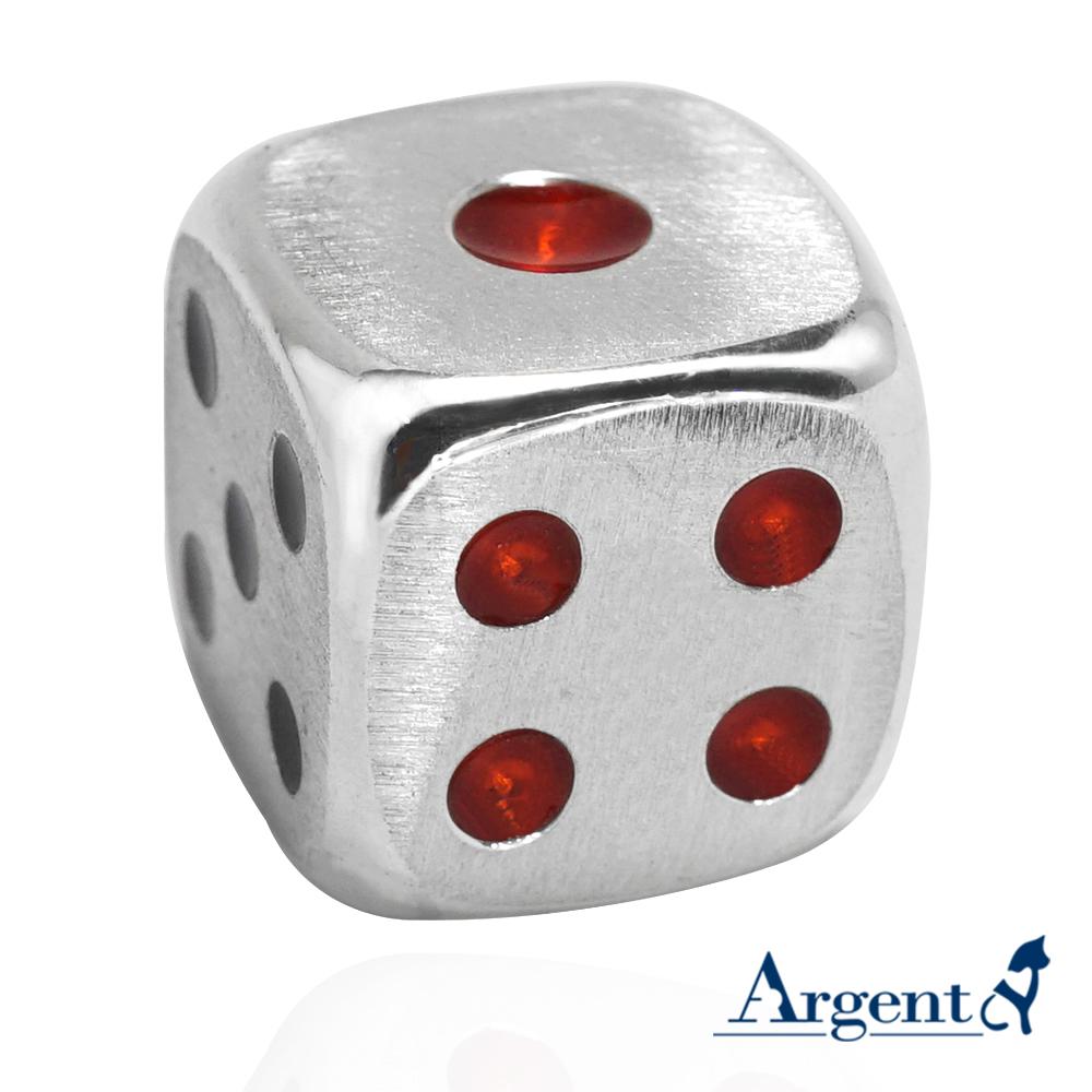 骰子-造型招財純銀擺飾銀飾