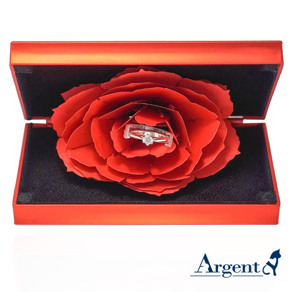 求婚戒指盒|永生花戒盒(紅色)-細版單戒適用