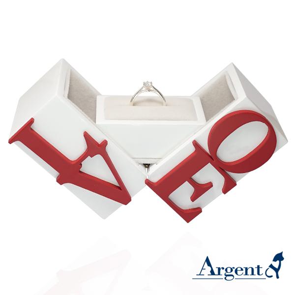 求婚戒指盒|LOVE戒指盒-可做展示架