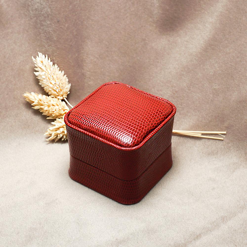 求婚戒指盒|皇家貴族單戒盒(外紅內黑)