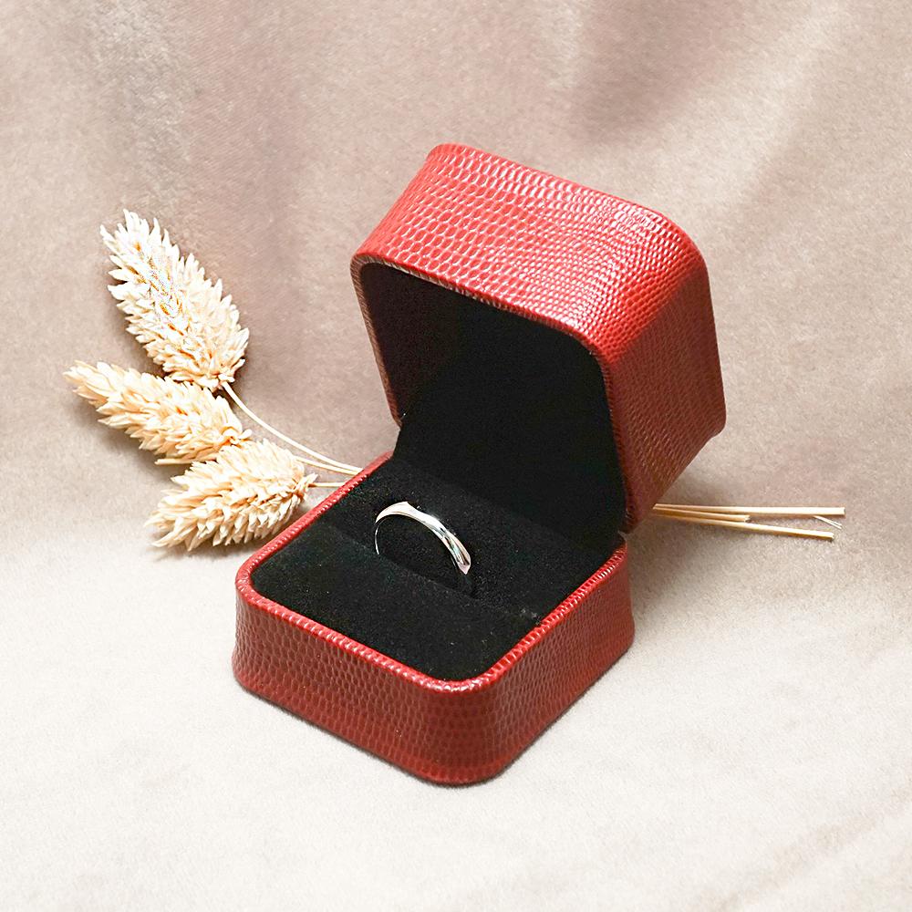 求婚戒指盒-皇家貴族單戒盒(外紅內黑)