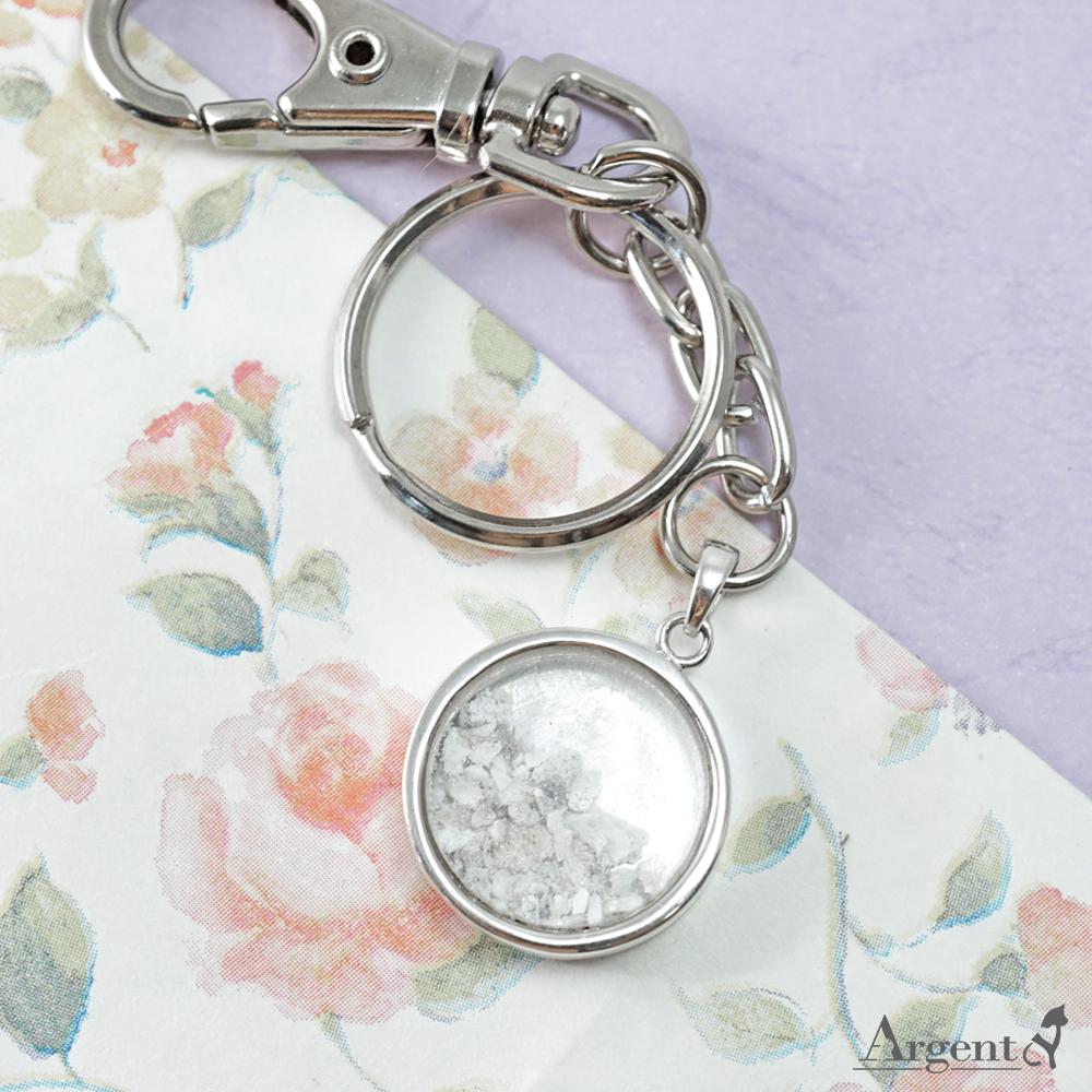 圓形寶盒純銀項鍊