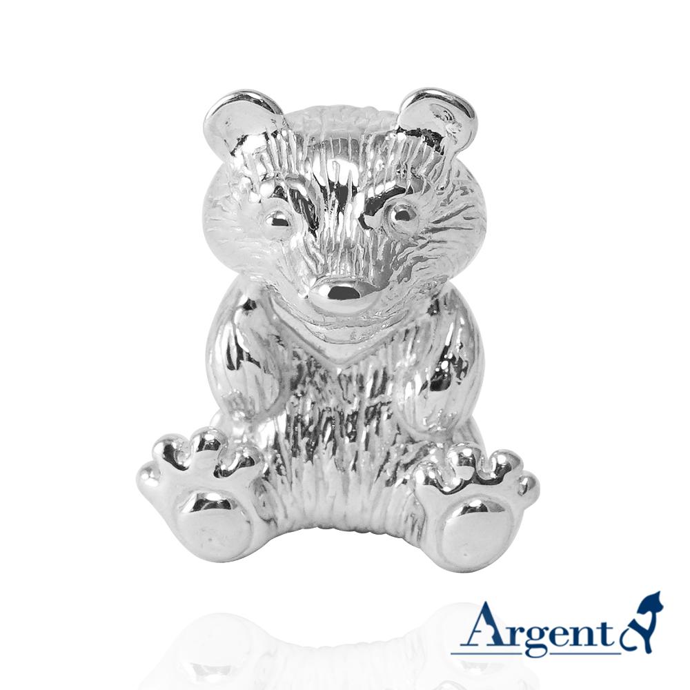 台灣黑熊造型純銀擺設|銀飾推薦