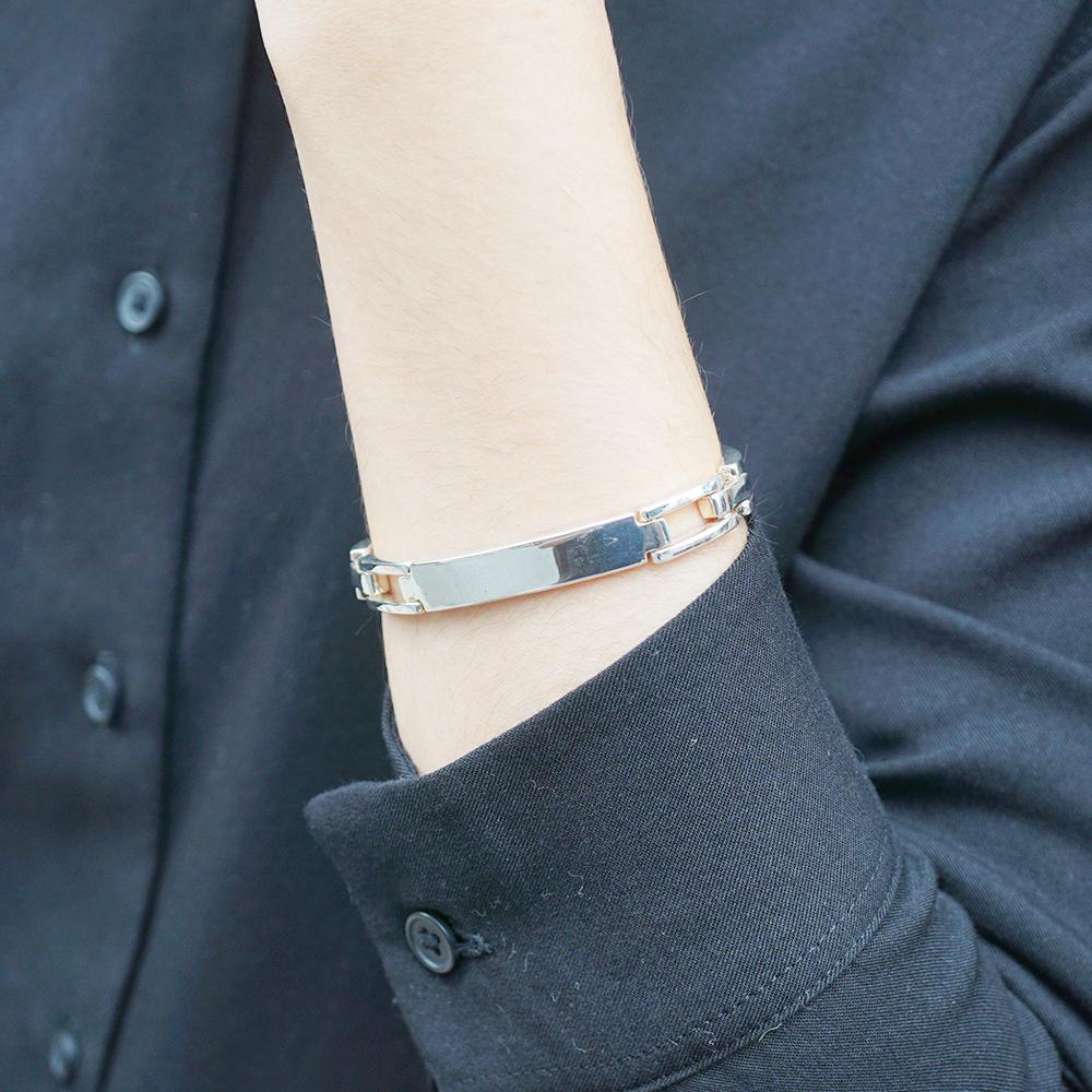 「尋跡(無刻字)」純銀手環