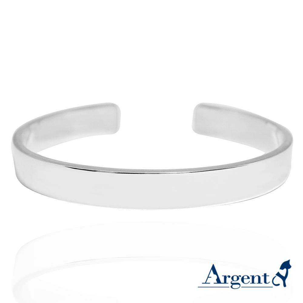 1.0cm「簡約」客製化手環|純銀刻字手鐲