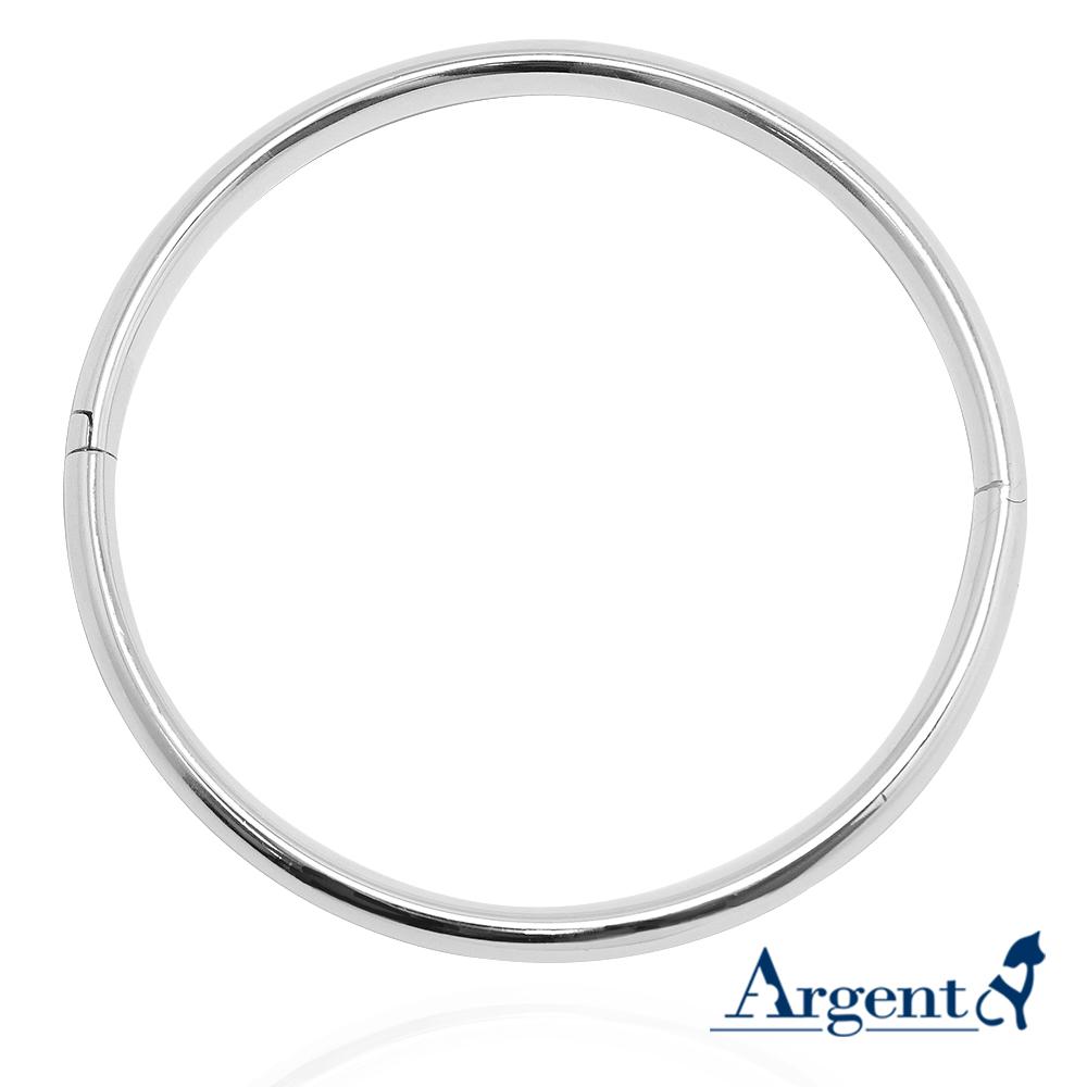 橢圓弧形(外弧內凹弧)素面可開手環|純銀手鐲