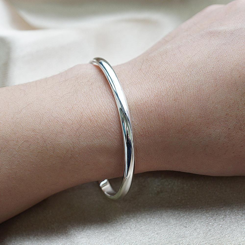 0.4cm「素雅」客製化手環|純銀刻字手鐲