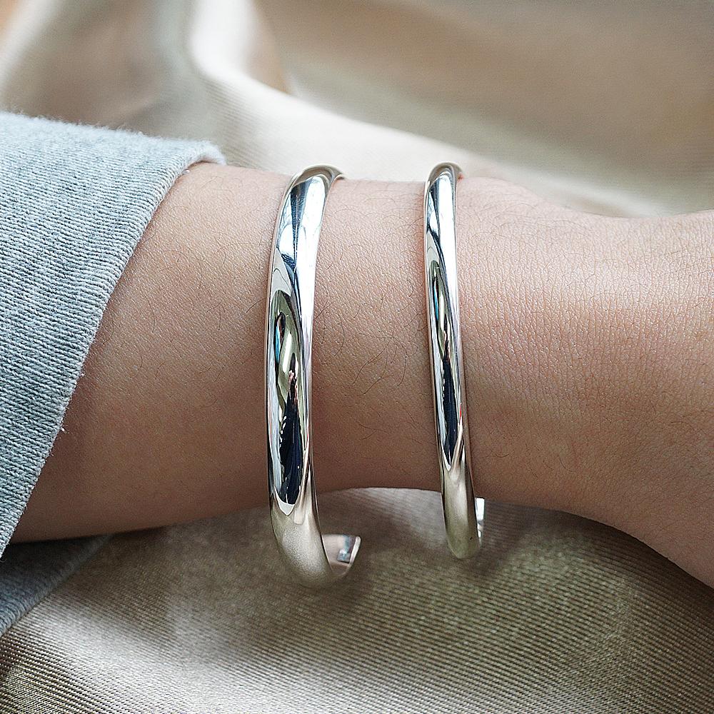 0.4+0.6cm「素雅」客製化手環|純銀刻字手鐲