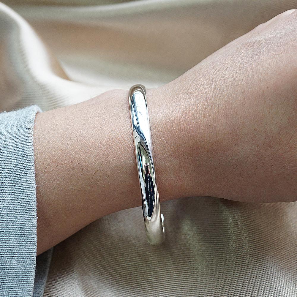 0.6cm「素雅」客製化手環|純銀刻字手鐲