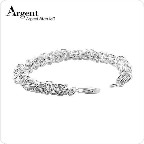 「喜悅」獨特編鍊純銀手鍊|999銀飾