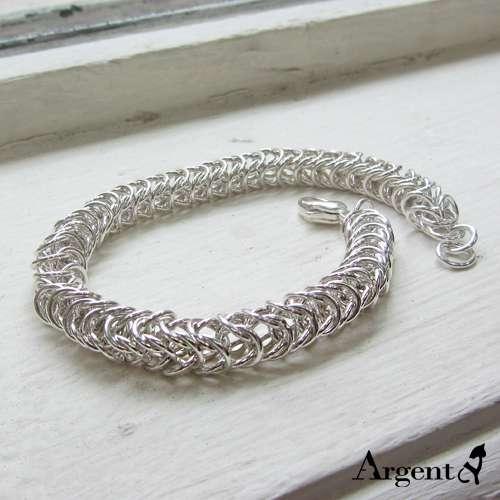 「心锁」粗链独特纯银手链|925银饰