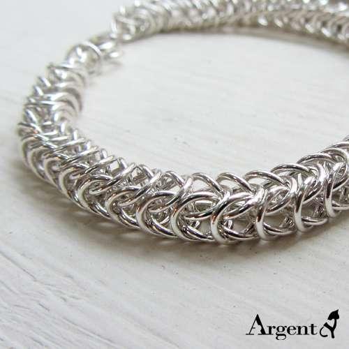 「心鎖」粗鍊獨特純銀手鍊|999純銀手工鍊