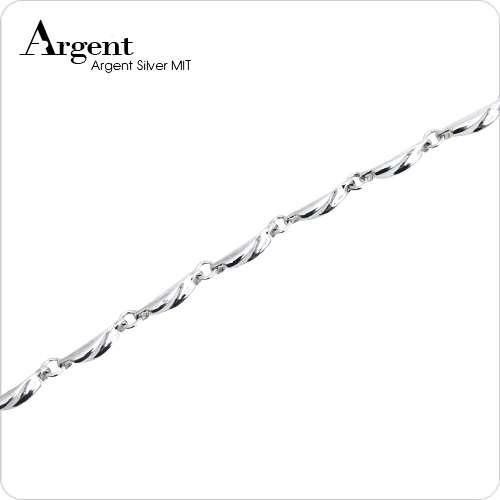 细款「波纹」系列纯银手链|925银饰