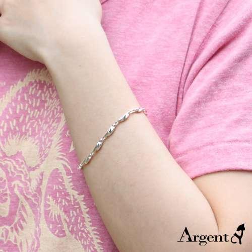 細款「波纹」系列純銀手鍊|925銀飾