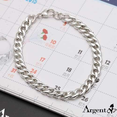 粗款「扁链」经典系列纯银手链|925银饰