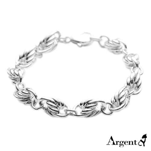 粗款「麻花链」系列纯银手链|925银饰