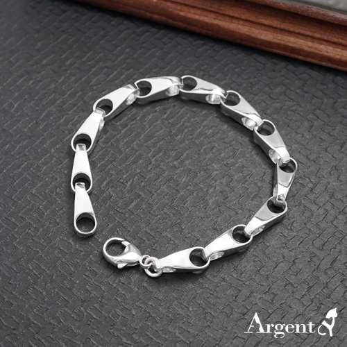 男款「银锁」潮流魅力纯银手链|925银饰