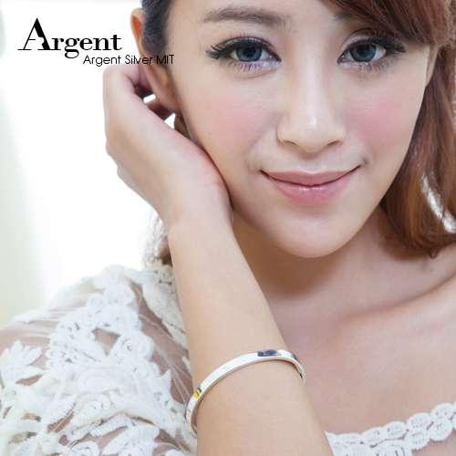 0.6cm 「Simple」 customized bracelet | Sterling Silver lettering bracelet