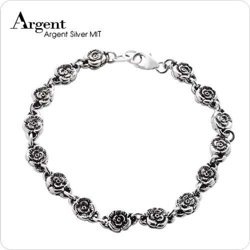 「蔷薇」造型花朵链纯银手链|925银饰