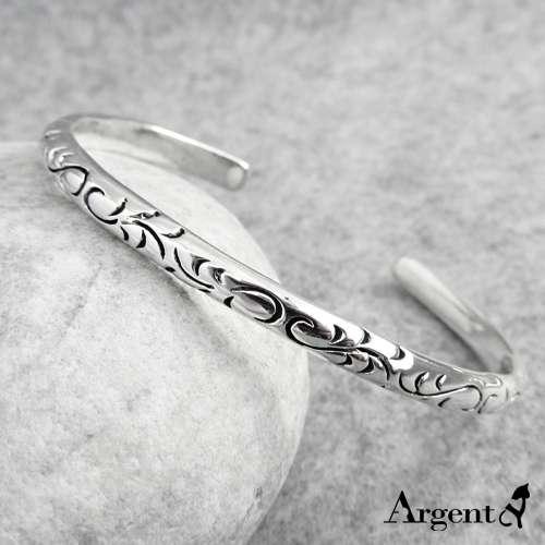 「細-愛戀圖紋」安爵特色純銀手環|925銀飾