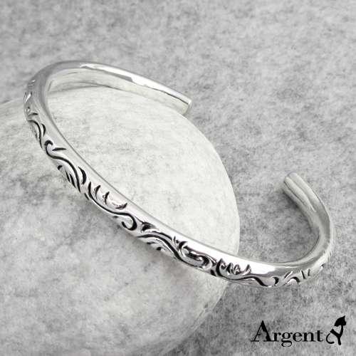 「粗-爱恋图纹」安爵特色纯银手环|925银饰