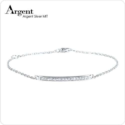 「晶钻弧线」亮丽质感纯银手链|925银饰