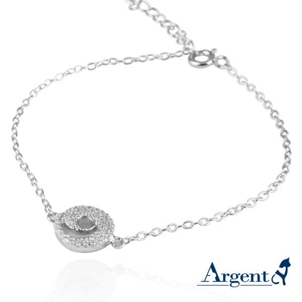 「晶鑽漩渦」亮麗質感純銀手鍊|925銀飾