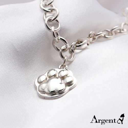 猫奴疗愈系「猫掌」造型纯银手链|925银饰