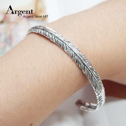 「鷹之羽」民族風格純銀手環|925銀飾
