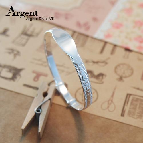 典雅愛心素面彌月嬰兒手環|純銀手鐲