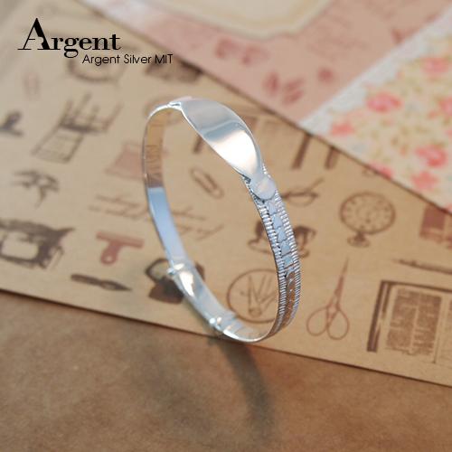 典雅爱心素面弥月婴儿手环|纯银手镯