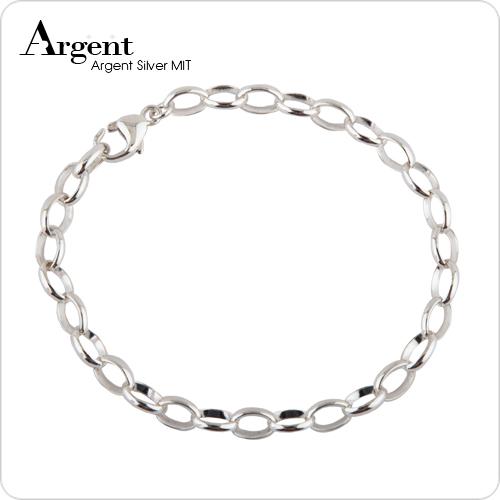 馬眼睛造型5mm純銀手鍊銀飾|手鍊推薦