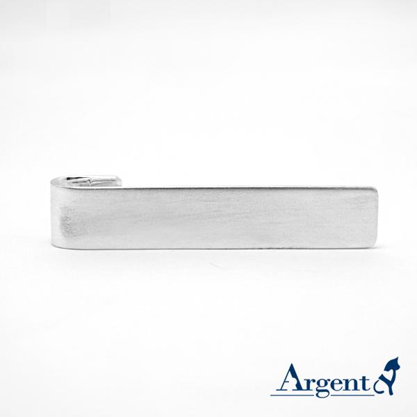 純銀配件-素面長牌領帶夾1