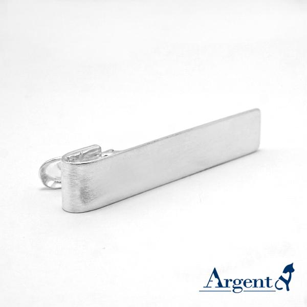 純銀配件-素面長牌領帶夾2