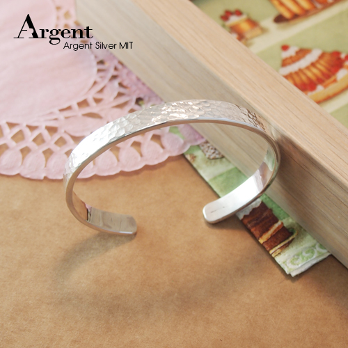 7.5mm「甜蜜烙印」手工系列純銀手環|925銀飾