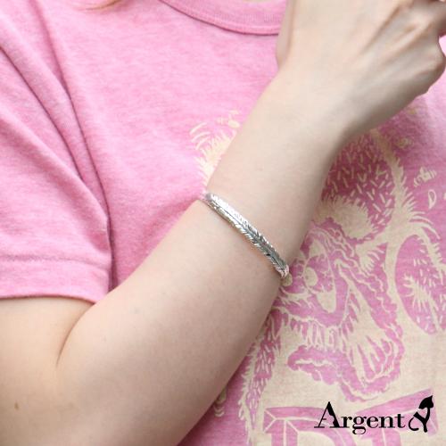 「鹰之羽」民族风格纯银手环|925银饰