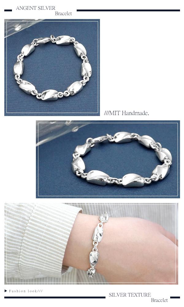 特粗款「波纹」系列純銀手鍊|925銀飾