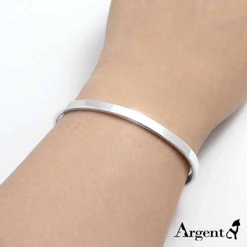 0.4cm 「Simple」 customized bracelet | sterling silver lettering bracelet